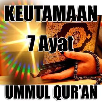 Keutamaan 7 Ayat Ummul Qur'an poster