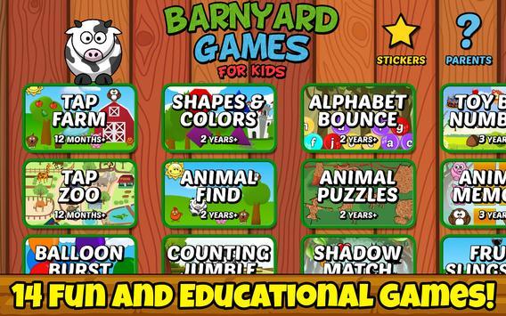 Barnyard Games For Kids Free poster