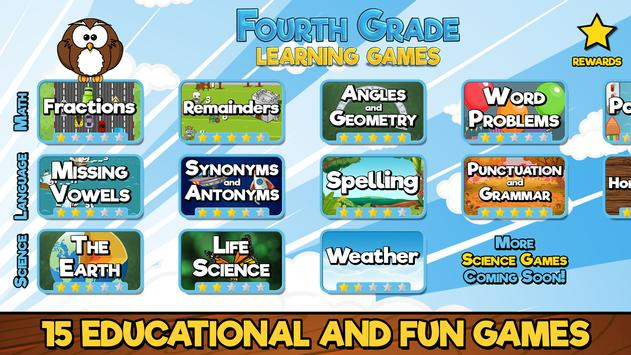 Fourth Grade Learning Games poster