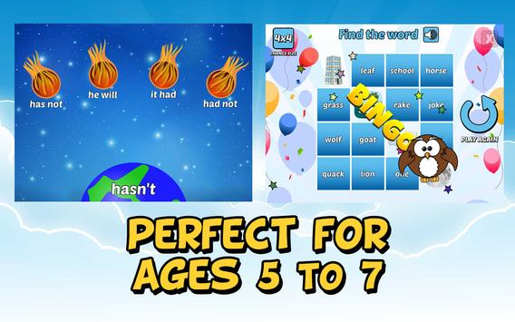 First Grade Learning Games apk screenshot
