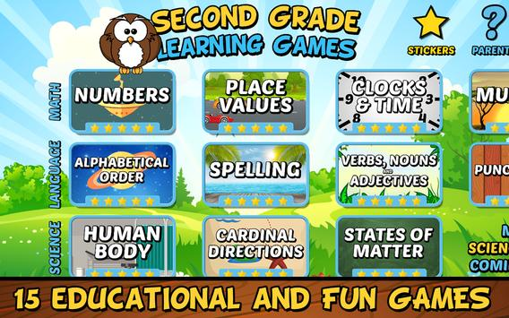 Second Grade Learning Games Free screenshot 10