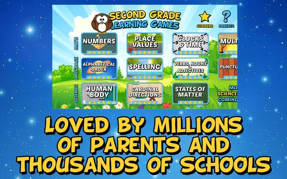 Second Grade Learning Games Free screenshot 2