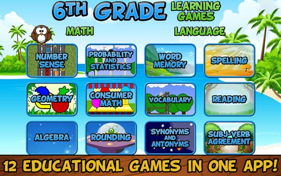 Sixth Grade Learning Games poster
