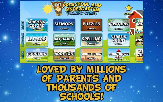 Preschool and Kindergarten Learning Games apk screenshot