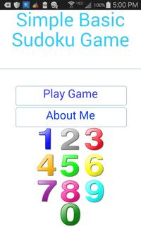 Simple Basic Sudoku apk screenshot