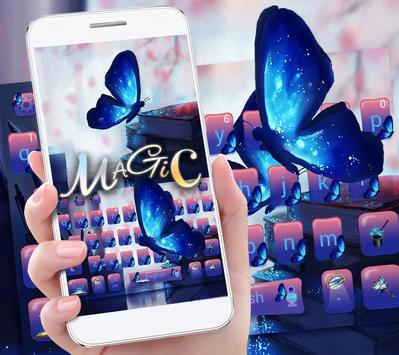 Magic Butterfly Keyboard Theme poster