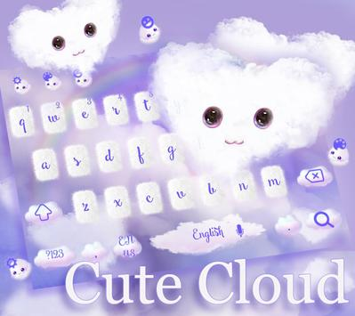 Fluffy Love Cloud Theme for Keyboard poster