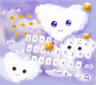 Fluffy Love Cloud Theme for Keyboard screenshot 2