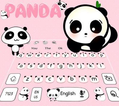Cute Panda Keyboard Theme poster