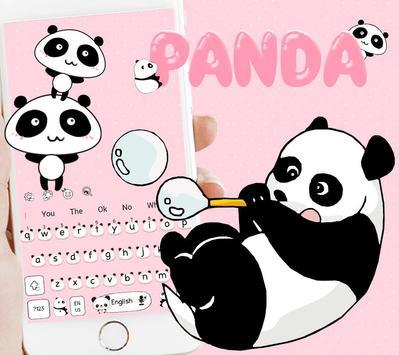 Cute Panda Keyboard Theme screenshot 1