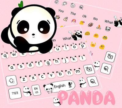 Cute Panda Keyboard Theme screenshot 2