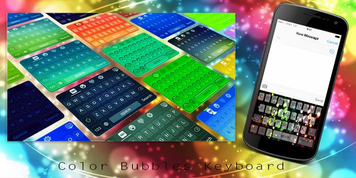 Color Bubbles Keyboard poster