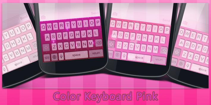 Color Keyboard Pink poster
