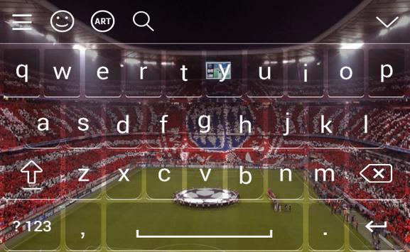 Keyboard For Bayern Munchen emoji apk screenshot