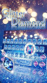 Blue Diamond Glitter Keyboard screenshot 1