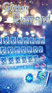Blue Diamond Glitter Keyboard screenshot 2