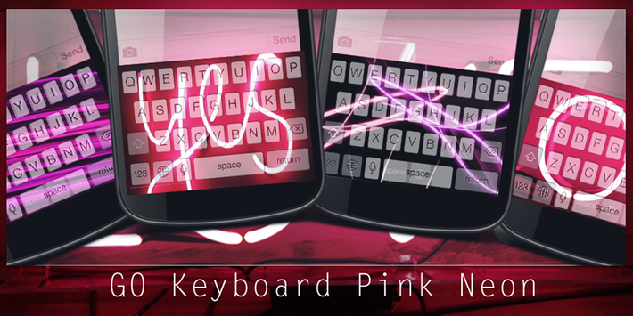 GO Keyboard Pink Neon poster