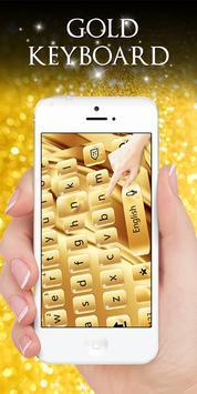 Gold Keyboard poster