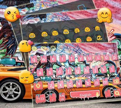 Graffiti Freestyle Keyboard theme Super Car apk screenshot