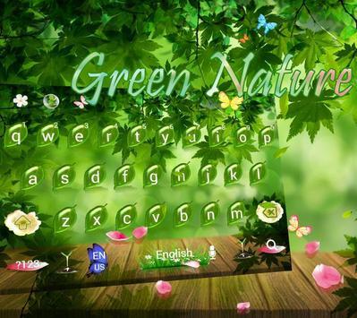Green nature Keyboard Theme green leaf poster