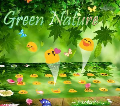Green nature Keyboard Theme green leaf apk screenshot
