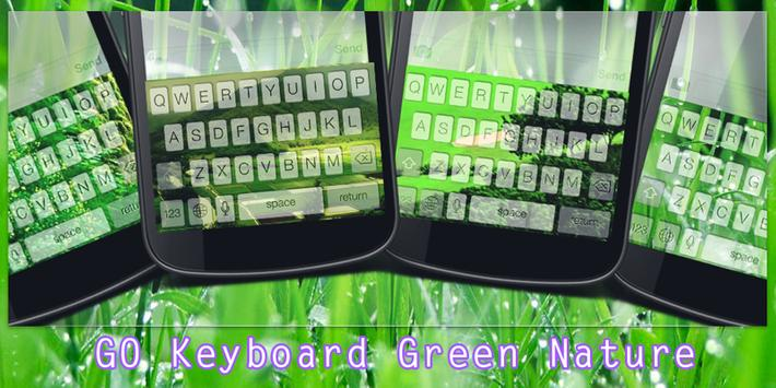 GO Keyboard Green Nature poster