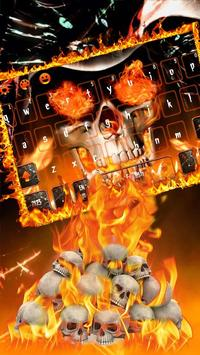 Angry skull Keyboard Theme Fire Skull poster