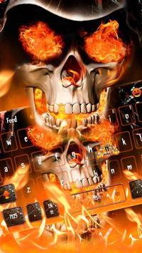 Angry skull Keyboard Theme Fire Skull screenshot 1