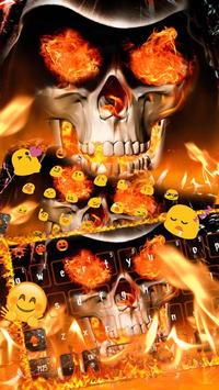 Angry skull Keyboard Theme Fire Skull screenshot 5