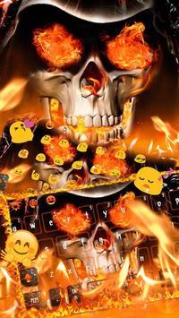 Angry skull Keyboard Theme Fire Skull screenshot 8