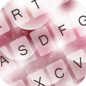 Pink Bubbles Keyboard Theme icon