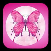 Pink Butterflie KeyboardTheme icon