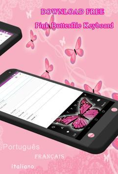 Pink Butterflie KeyboardTheme screenshot 1