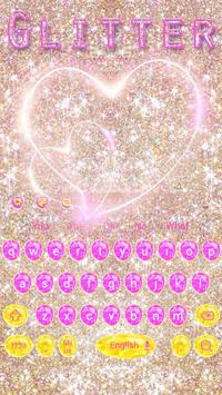 Pink gold Glitter Love Theme poster