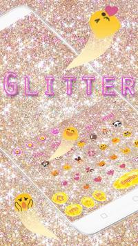 Pink gold Glitter Love Theme screenshot 1