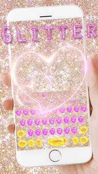 Pink gold Glitter Love Theme apk screenshot