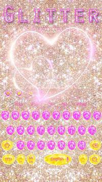 Pink gold Glitter Love Theme screenshot 6