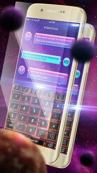 Fantasy Red Galaxy Keyboard screenshot 4