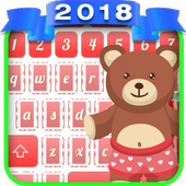 Cute Teddy Bear Keyboard icon