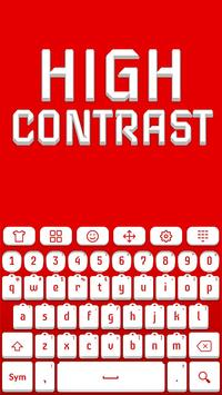 High Contrast Keyboard poster