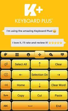 Golden Keyboard apk screenshot