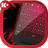 Neon Red Keyboard icon