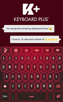 Neon Red Keyboard poster