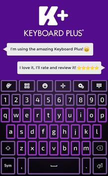 Neon Violet Keyboard apk screenshot