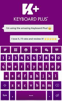Purple HD Keyboard apk screenshot