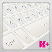 Keyboard Plus White icon