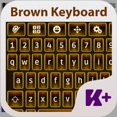 Brown Keyboard Theme icon