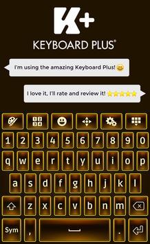 Brown Keyboard Theme poster