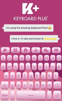 Soft Pink Keyboard Theme poster