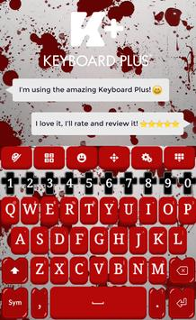 Blood Keyboard Theme poster
